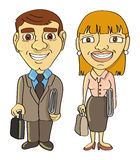 Businessman & businesswoman frontal Stock Image