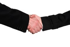 Businessman and businesswoman handshake Stock Image