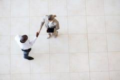 Businessman businesswoman handshake Royalty Free Stock Photos