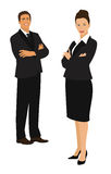 Businessman and businesswoman Stock Photography