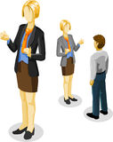 Businessman and Businesswoman Isometric Royalty Free Stock Photography