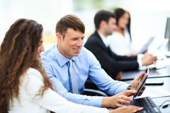 Businessman and businesswoman meeting Stock Photography