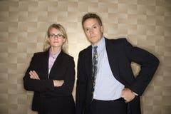 Businessman and Businesswoman Portrait Royalty Free Stock Photo