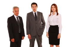 Businessman and businesswoman standing Stock Photo