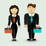 Businessman and Businesswoman in Suit. Stock Photos