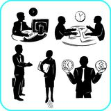 Businessman and businesswoman. Vector set. Stock Images
