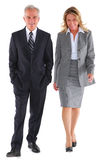Businessman and businesswoman walking Royalty Free Stock Photography