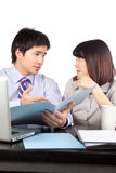 Businessman And Businesswoman At Work Stock Photography