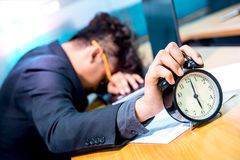 Businessman busy and headache. Busy and headache person, unsuccessful businessman, deadline Royalty Free Stock Photos