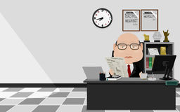 A businessman is busy in his office Royalty Free Stock Photography