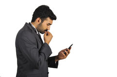 Businessman busy Stock Photography