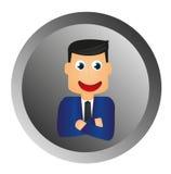Businessman button Royalty Free Stock Photos