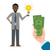 Businessman buy idea. Stock Photos