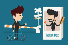 Businessman buying ticket Royalty Free Stock Images