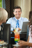 Businessman in cafe Royalty Free Stock Images