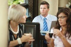 Businessman in cafe Stock Photos
