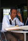 Businessman at a Cafe Stock Photos