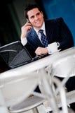 Businessman at cafe Stock Photos