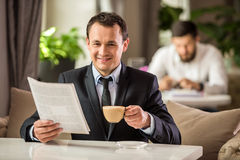 Businessman in cafe Stock Photos