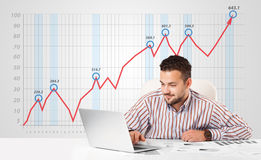Free Businessman Calculating Stock Market With Rising Graph In The Ba Stock Images - 32070024