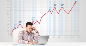 Free Businessman Calculating Stock Market With Rising Graph In The Ba Stock Photo - 48924770