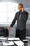 Businessman on call Royalty Free Stock Photo