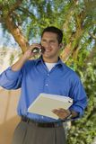 Businessman On Call Royalty Free Stock Images