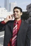 Businessman On Call Stock Photos