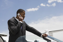 Businessman On A Call Stock Photography