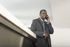 Businessman On Call Royalty Free Stock Image