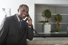 Businessman On Call Stock Photo