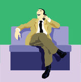 Businessman call the client Stock Images