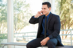 Businessman on a call Stock Images