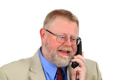 Businessman calling Royalty Free Stock Image