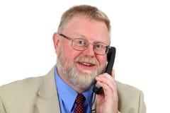 Businessman calling Stock Image