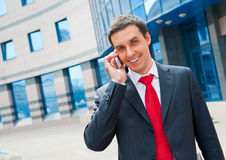Businessman calling Royalty Free Stock Photos