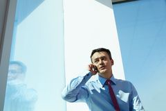 Businessman calling Royalty Free Stock Photography