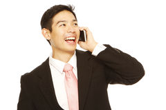 Businessman Calling Royalty Free Stock Photo