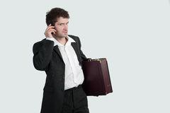 Businessman is calling Royalty Free Stock Images
