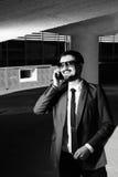 Businessman calling Stock Photo