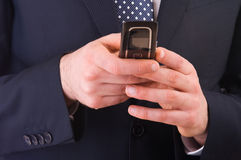 Business man calling by cell phone. Stock Image