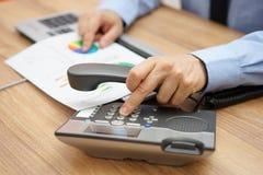 Businessman calling client  Stock Image