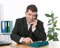 Businessman is calling Stock Images
