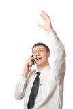 businessman calling happy phone Στοκ φωτογραφία με δικαίωμα ελεύθερης χρήσης