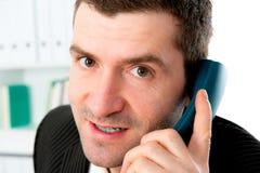 Businessman is calling Stock Photos