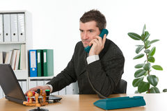 Businessman is calling Stock Photography