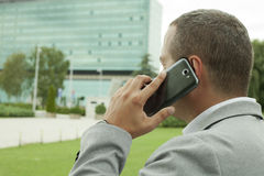 Businessman calling Outdoor Royalty Free Stock Photography