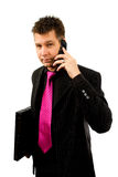 Businessman is calling on the phone Royalty Free Stock Photos