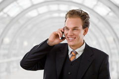Businessman calling on phone Royalty Free Stock Images