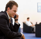 Businessman calling on phone Royalty Free Stock Image